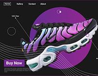 Black Night Shoe Store - Website UI Design