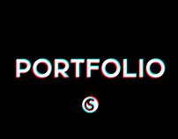 Portfolio glitch motion