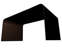 Klingo : minimal corten steel low table