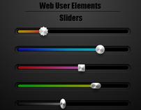 Web Interface Sliders