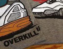 Overkill x Sneaker Freaker Germany x Kwills t-shirts
