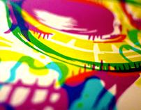 Skull print CMYK edition