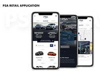 App demonstration for PSA Retail