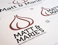 Matt & Marie's Branding