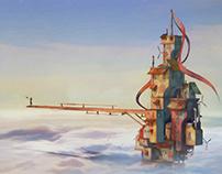 Eagle's Bridge - 3D Illustration/GIF -