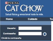 Diseño web de Fieles Amigos para Purina Cat Chow