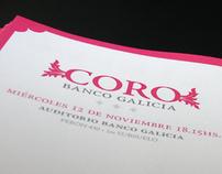 Diseño de papelería para Coro de Banco Galicia