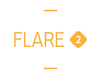 Flare 2. Typeface, b:a:d identity- custom font
