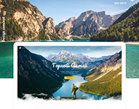 Concept of landing tours in the Altai mountains