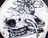 Embroidery I - skull