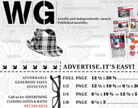 WG News + Arts / promtional flyer for newspaper