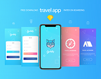 travel app ui free download sketch file