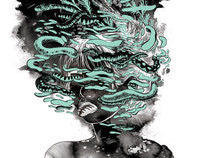 """Swamp"" Two Color Silkscreen print"