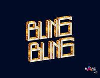 Typography bling bling illustration