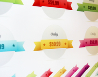 Color ribbons for shutterstock