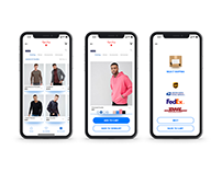 Fashion App Checkout UI/UX for iPhone X