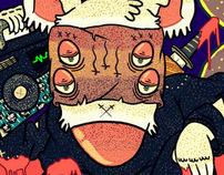La rata ninja, by: fidel skuller