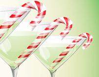 Holiday Postcard Trio - Beverages!