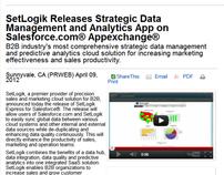 SetLogik Salesforce App - Press Release