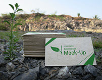 Eco Paper Business Cards Mock-Ups