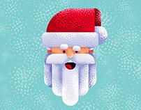 Flat Design Santa Claus Character Illustration