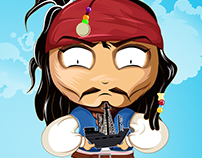 Jack Sparrow & the Black Pearl, chibi illustration