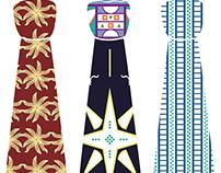 Universal Industries_Ethiopian Ties + Scarves patterns