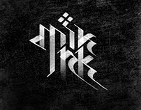 Calligraphy logo |  MIK INK tattoo.