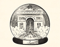 Paris Snow Globe for GLP