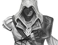 Ezio pintura digital (inacabada)