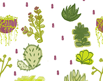 Succulents and Cactus Pattern