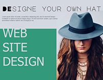 Boshi - online shop with custom hats Web design