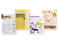 Editorial page design examples
