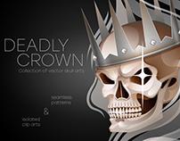 Vector Crowned Skull
