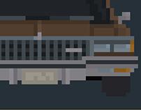 Chevrolet Caprice Classic 1983 Pixel Art