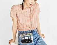Flowers plastic bag for SS18 Bershka Collection