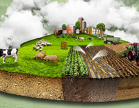 Agricultural project. Illustration