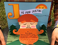 J is for Justin/ Pop-up Book