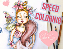 Coloring ''Lilly'' Pencil Drawing Illustration