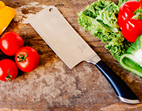 Stock Photography - Professional Cleaver Knife, Multi P