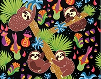 Sloths Surface Pattern Design