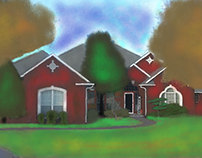 A Painting Of My Uncles House