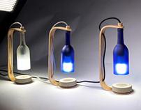 Bent Ply Wine Bottle Lamps