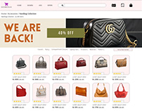 UI Design for shop bags online