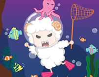 Grumpy Sheep Under the Sea
