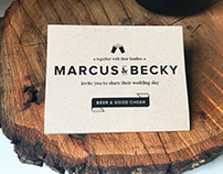Marcus & Becky - Wedding Invitation