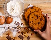Food photography: chocolate cookies