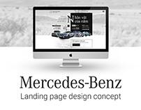 Mercedes-Benz - Landing page concept