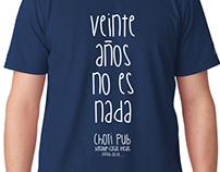 Camiseta '20 Aniversario Chori Pub'