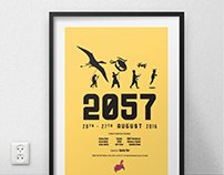 2057 Art Exhibition Promo Campaign Posters